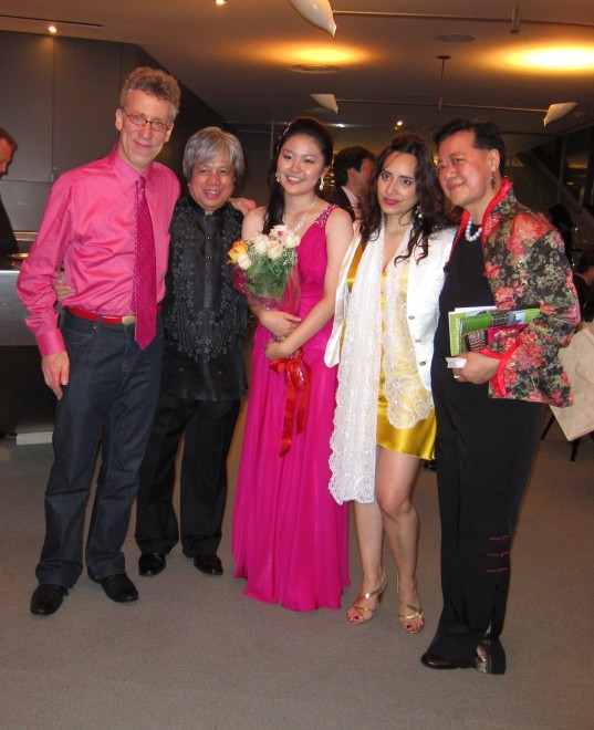L to R: Elliot Fisk, Michael Dadap, Hinano Ishii, Zaira Meneses, Dr.Yeou-Cheng Ma